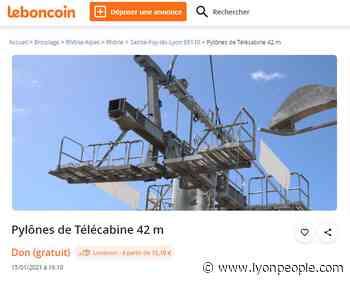 Téléphérique de Sainte Foy les Lyon. Ses pylônes font le bonheur du site Leboncoin et des internautes - - Lyon People