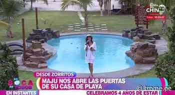 Maju Mantilla presenta su bello hotel 'Aquamare Bungalows' en Zorritos - Diario Trome