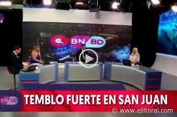 """Video: un noticiero de San Juan """"tembló"""" en vivo en medio del terremoto - El Litoral"""