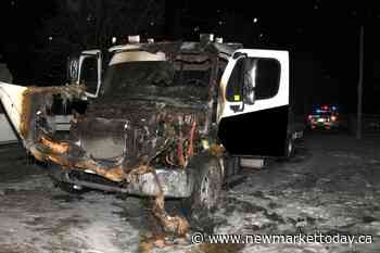 Tow truck intentionally set on fire in Whitchurch-Stouffville driveway, police say - NewmarketToday.ca