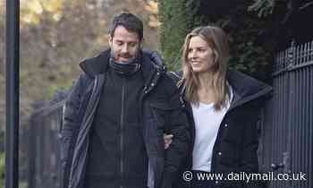 Jamie Redknapp and new girlfriend Frida Andersson-Lourie wear matching £775 coats f