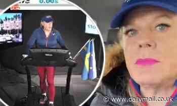 Eddie Izzard reveals she's damaged her feet and legs during series of marathon