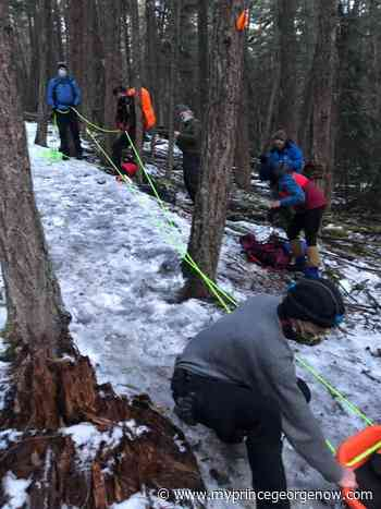 Fort St. James Search and Rescue Society save woman with broken leg from icy mountain top - MY PG NOW