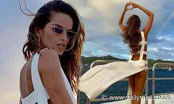 Izabel Goulart stuns in a white cut-out dress in throwback snaps from St. Barts trip