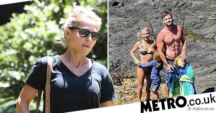 Elsa Pataky heads out for sunny stroll in Sydney as Chris Hemsworth prepares to start work on Thor 4 after dreamy family trip