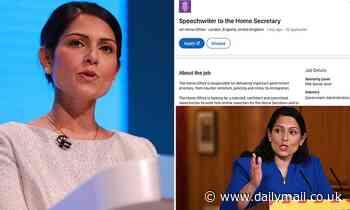 Home Secretary advertises for £63,000-a-year speechwriter