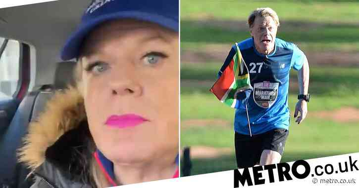 Eddie Izzard says feet and legs are 'knackered' from doing 31 marathons in 31 days: 'I'm hanging on'
