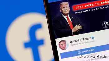 """""""Entscheidung war notwendig"""": Facebook will Trump-Sperre prüfen"""
