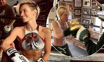 Neighbours' Nicky Whelan shows off boxing skills in exercise video