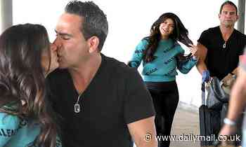 Teresa Giudice PICTURE EXCLUSIVE: RHONJ star passionately kisse Luis Ruelas as they arrive to LAX