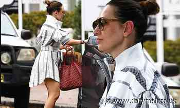 Zoë Foster Blake oozes class in a stylish shirt dress in Sydney's Double Bay