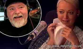 Jackie 'O' Henderson bursts into tears as she watches Kyle Sandilands' pre-prepared video obituary