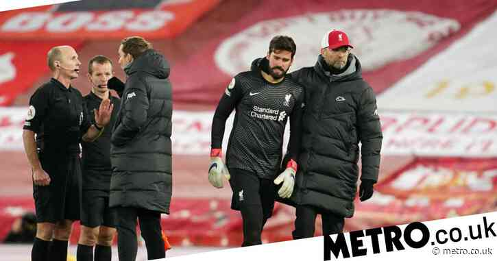 Jurgen Klopp reveals what Alisson said about Burnley penalty after Liverpool's shock defeat
