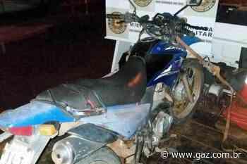 Moto furtada em Arroio do Tigre é recuperada em São Paulo das Missões - GAZ
