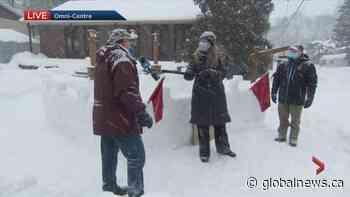 Pincourt snow castle challenge   Watch News Videos Online - Globalnews.ca