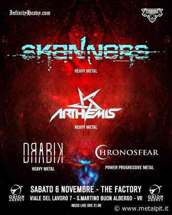 SKANNERS, ARTHEMIS: il concerto al The Factory di San Martino Buon Albergo (VR) posticipato al 6 novembre 2021 - MetalPit