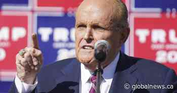 Lawyers want Rudy Giuliani's licence suspended over false U.S. election claims