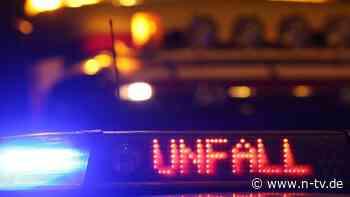 Lastwagen-Crash auf der A 72: Fahrer verbrennen bei Frontalzusammenprall