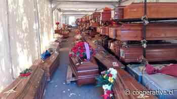 Italia: Cientos de ataúdes usados esperan apilados a que haya espacio para su entierro