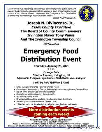 Next Essex County Food Distribution in Irvington on Jan. 28 - TAPinto.net