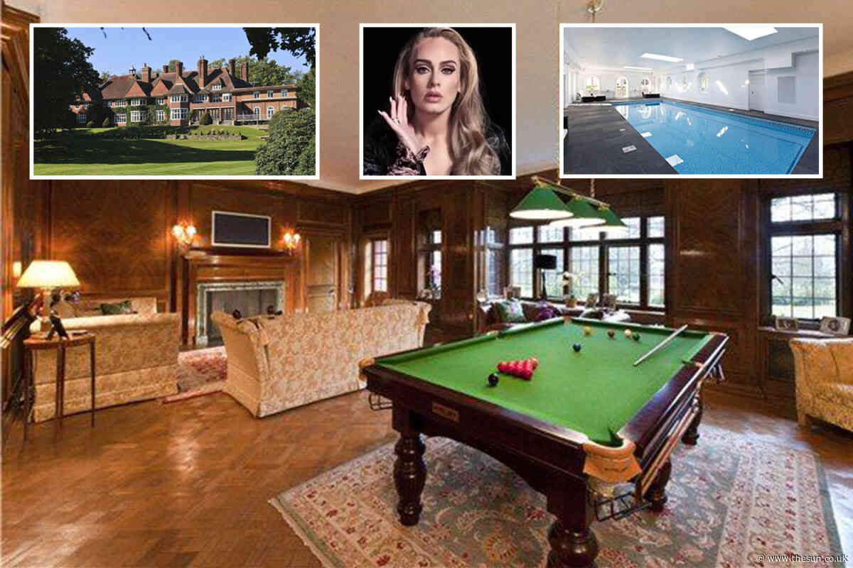 Inside Adele's incredible ten bedroom Sussex mansion as she knocks £1m off the price to sell it for £6.5m - The Sun