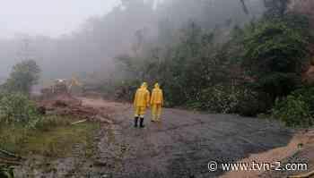 Autoridades ubican nuevos puntos de deslaves en la carretera Gualaca-Chiriquí Grande - TVN Panamá