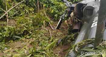 Helicóptero del Ejército cayó en Mazamari - Diario Perú21