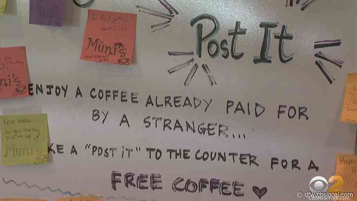 Customers At Coffee Shop Pay It Forward With Sticky Notes, Buying Hundreds Of Drinks For Strangers