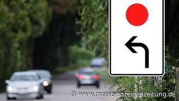 Was bedeutet dieser rote Punkt? Autofahrer grübeln über kurioses Verkehrsschild