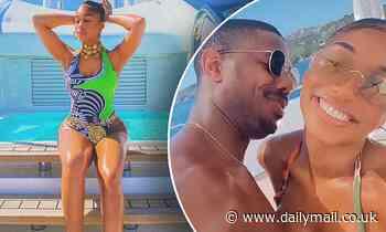 Michael B Jordan, 33, kisses Lori Harvey, 24, as they continue to flaunt their romance