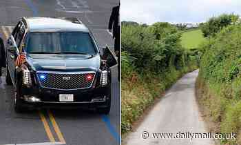 Biden's £1.1million presidential limo 'won't fit down Cornwall's lanes' for the G7 summit in June