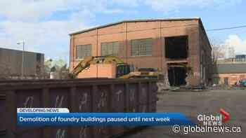 Ontario government pauses demolition at historic foundry site in Toronto