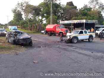 Dos heridos dejó un accidente de tránsito, vía Alanje, frente a la Hacienda Carta Vieja - Crónica Roja - frecuenciainformativa.com