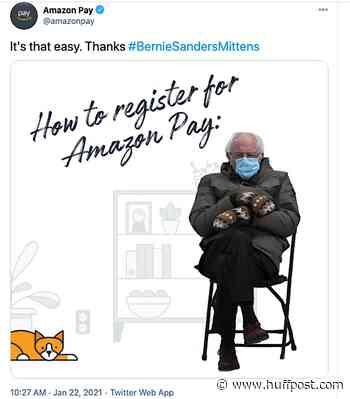 Bernie Sanders' Inauguration Meme Hijacked By Amazon For Ad; Critics Appalled