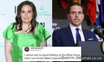 Lena Dunham is slammed on Twitter after joking she cannot wait to be 'Hunter Biden's beautiful wife'