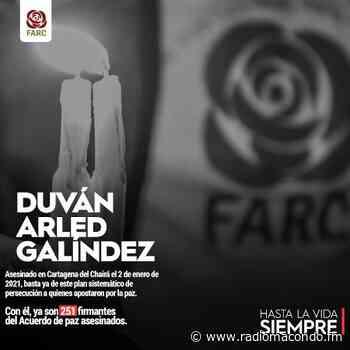 Asesinan a firmante de la paz en Cartagena del Chairá - Noticias Nacionales - Radiomacondo - Radio Macondo