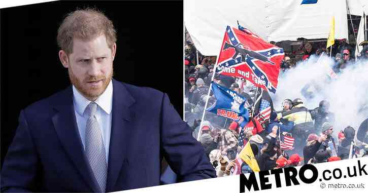 Prince Harry calls social media 'threat to democracy' after deadly Capitol riots