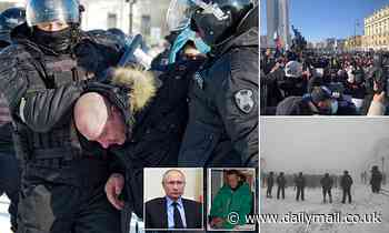 Anti-Kremlin demonstrations break out across Russia in support of jailed Putin-critic Alexei Navalny