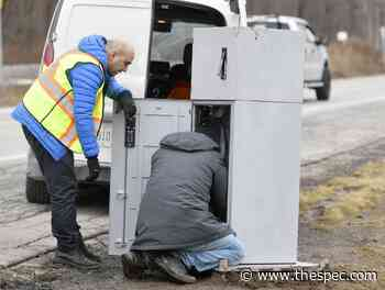 Knock it off: Vandals topple Hamilton's photo-radar cameras on Lawrence Road - TheSpec.com