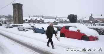 New snow and ice warnings issued for UK as 6ins set to fall in -3C freeze