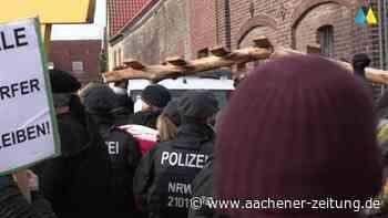 Hoffnungslosigkeit Abriss in Erkelenz-Lützerath unter Polizeischutz - Aachener Zeitung