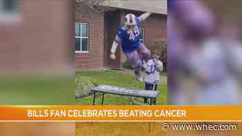 Bills fan rings bell, crashes through table after completing cancer treatment