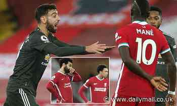 Manchester United's Bruno Fernandes defends Liverpool over their recent form
