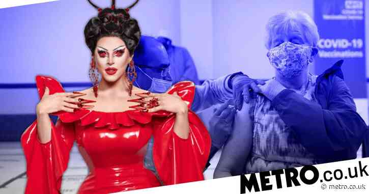Drag Race UK: Eliminated queen Cherry Valentine starts new job helping to administer Covid vaccine