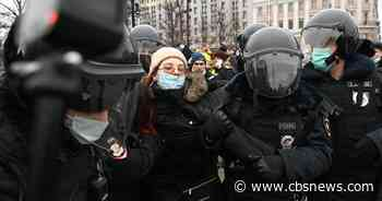 Russia arrests more than 1,600 protesters demanding Navalny's release