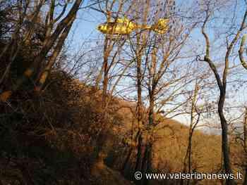 Ranica: cade con la bici sulla Maresana, interviene l'elisoccorso - Video - Valseriana News - Valseriana News