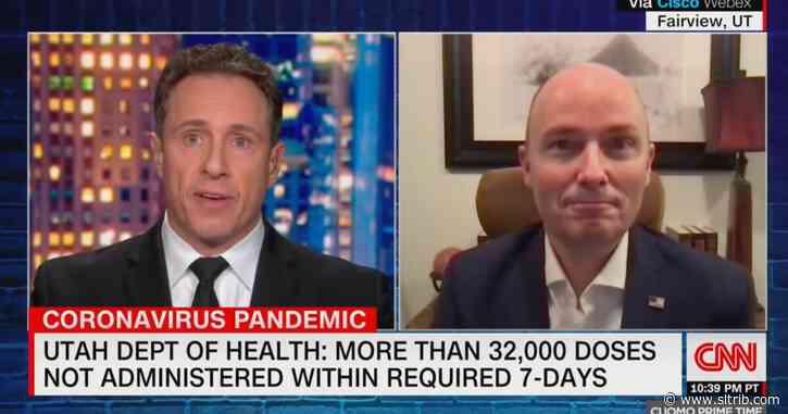 Gov. Cox defends Utah's COVID-19 vaccination response on CNN