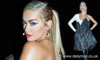 Rita Ora cuts a striking figure in a quirky ruffled puffball gown backstage at The Masked Singer UK