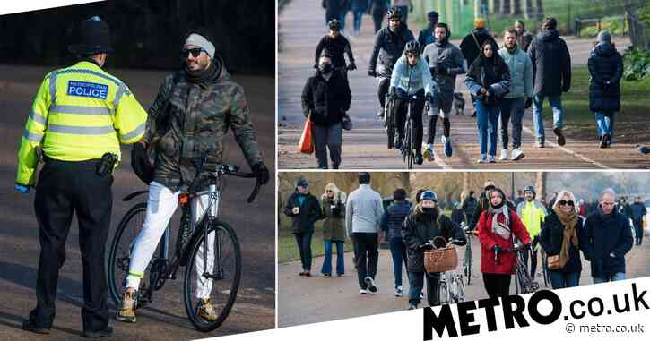 Brits flock to parks over the weekend despite being told to stay at home