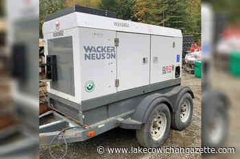 RCMP asking Vancouver Island residents to watch for stolen generator - Lake Cowichan Gazette